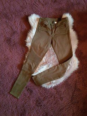 H&M Divided Drainpipe Trousers khaki