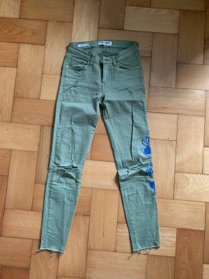 Tally Weijl Pantalone a sigaretta blu-grigio-verde