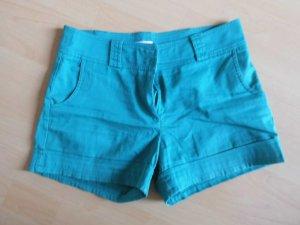 grüne Hotpants mit Taschen vorn