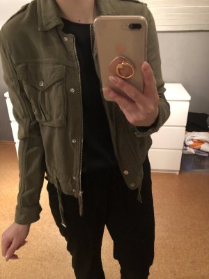 Bershka Denim Jacket khaki