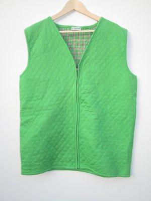 grüne Jacke ohne Ärmel Vintage Retro Gr. L XL
