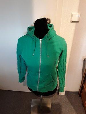 grüne Jacke - Reißverschluss/Kapuze - Divided - Gr. 36
