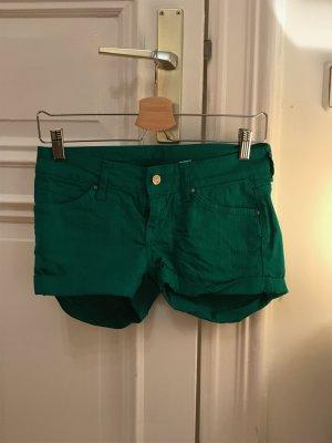 grüne Jean Bermuda Shorts von Mango