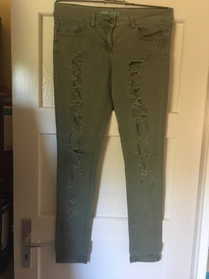 Denim Co. Boyfriendbroek khaki