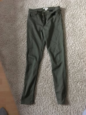 H&M L.O.G.G. Jeans a vita alta grigio-verde