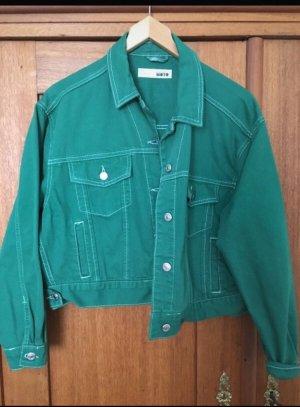 Grüne jeansjacke oversize