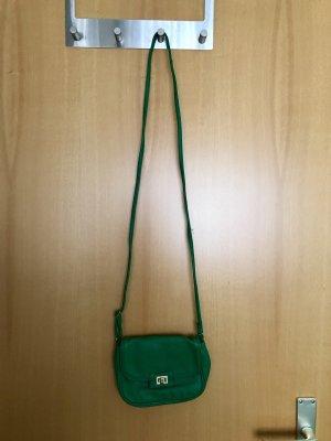 grüne kleine Umhängetasche