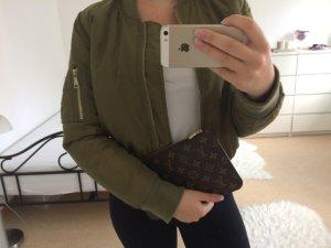 Bomberjack groen-grijs Polyester