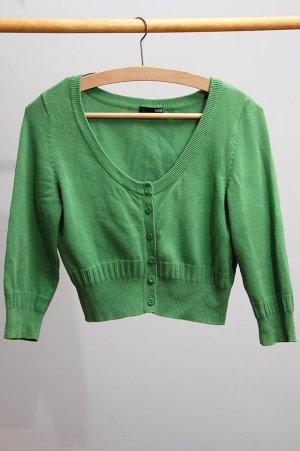 H&M Gilet tricoté vert coton