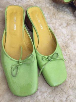 Heel Pantolettes lime-green
