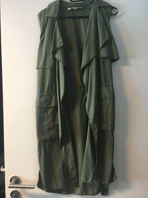 Grüne lange Weste, Zara, Gr. 36