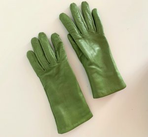 Leather Gloves grass green leather