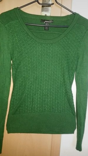 Mango Knitted Sweater forest green