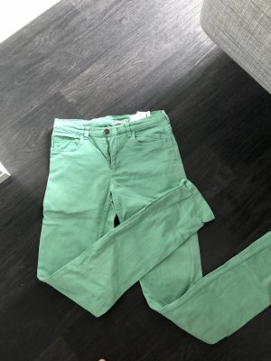 H&M Jeans taille haute vert clair