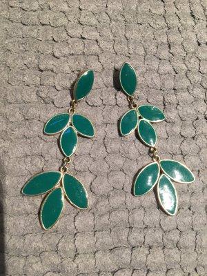 grüne Ohrringe mit gold