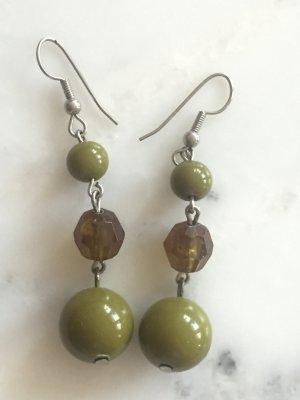 Grüne Perlen-Ohrringe NEU #Bijou Brigitte