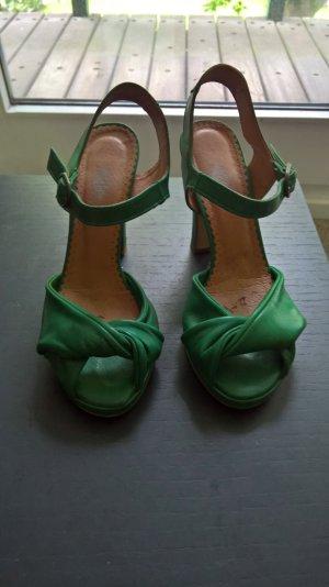 grüne Plateau High Heels von COX 36 wie neu