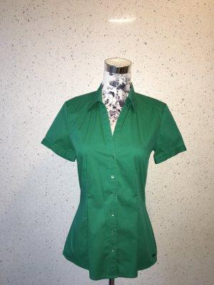 Grüne s. Oliver Bluse mit Knöpfen; kurzarm; Größe 34; neuwertig