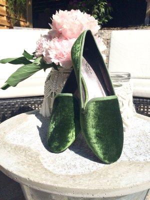Grüne Samtschuhe von Tosca Blu