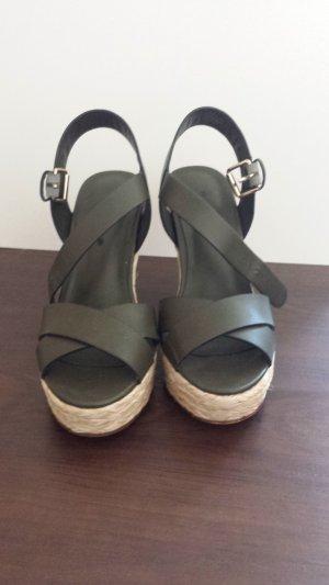 Wedge Sandals khaki