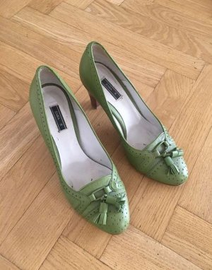 Grüne Schuhe, highheels von Zara