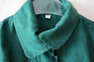 Blusa con lazo verde bosque Seda