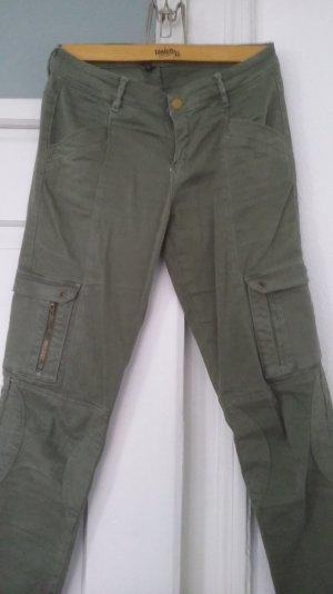 grüne Skinny Hose Zara