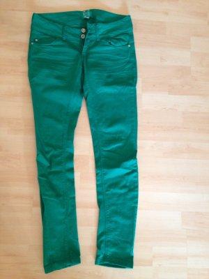 Grüne skinny Jeans von Bershka