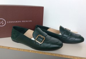 Leonardo Moccasins forest green leather