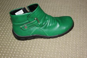 Zipper Booties green-forest green imitation leather