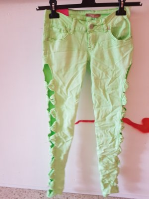 100% Fashion Stretch Trousers pale green