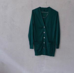 United Colors of Benetton Cardigan forest green cotton