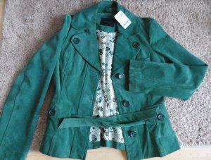 grüne Vintage Jacke**Echtleder!