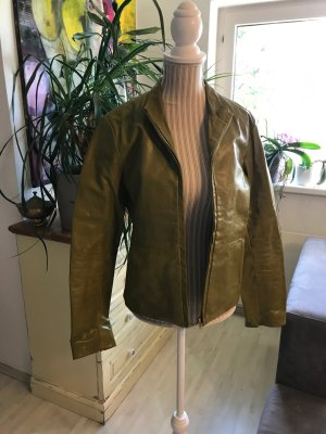 Leather Jacket green leather