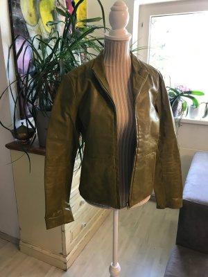 Grüne Vintage Lederjacke