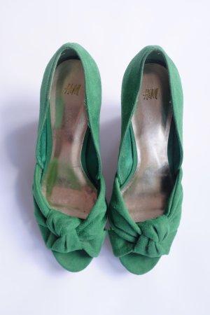 Grüne Wedges mit Korkabsatz von H&M