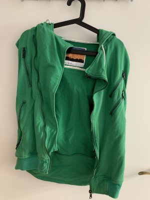 Hooded Vest bronze-colored-green