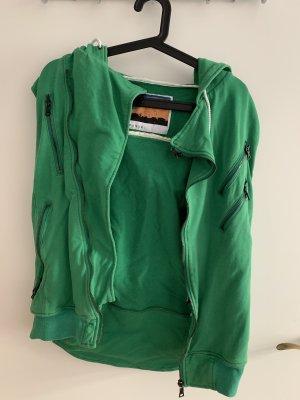 Smanicato con cappuccio bronzo-verde