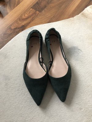 H&M Ballerinas with Toecap forest green