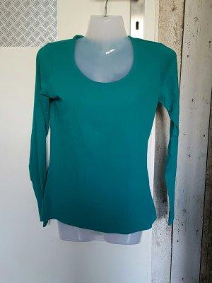 grüner Basic Pullover
