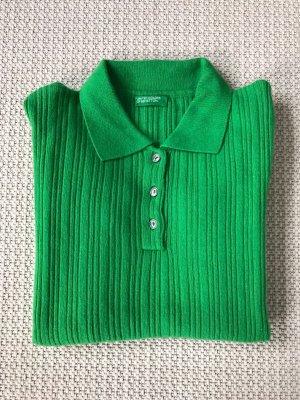 grüner Benetton Strickpullover mit Kragen