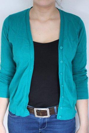 Grüner Cardigan in Größe M
