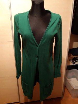 Grüner Cardigan Strickjacke mit Taschen 36