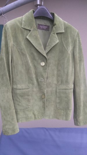 Leather Blazer grass green leather