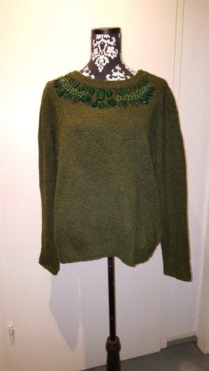 H&M Jersey de cuello redondo verde bosque