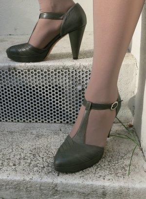 Joop! Zapatos de tacón con barra en T caqui Cuero