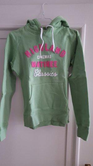 H&M Jersey con capucha verde claro-rosa Algodón