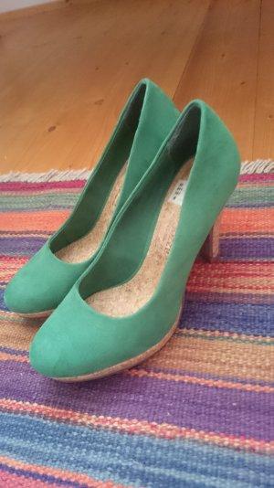 Grüner Kork- High-heels