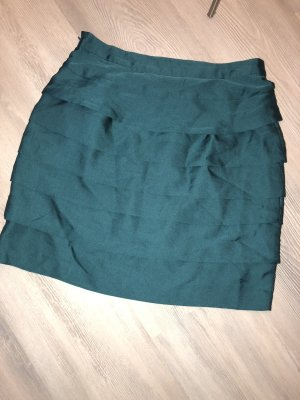 Zara High Waist Skirt petrol-green