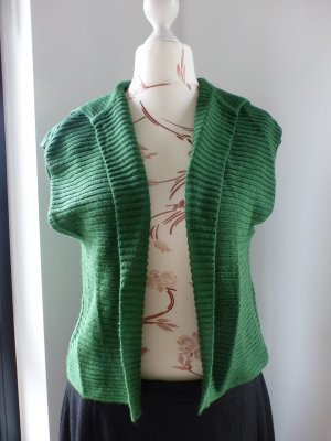 grüner Monari Grobstrick Cardigan Strickjacke Überzieher Blazer